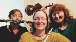 Moirai Trio – Concert and dance on saxophone, fiddle, accordion and voice @ Northwick Arms Hall | Ketton | England | United Kingdom
