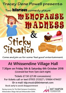 Two hilarious comedy plays at Whissendine Village Hall @ Whissendine Village Hall | Whissendine | England | United Kingdom