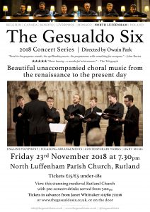 The Gesualdo Six: Rutland @ St John the Baptist | North Luffenham | England | United Kingdom