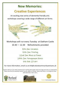 New Memories - Creative Experiences: Ceramics Workshop @ Oakham Castle | Oakham | United Kingdom