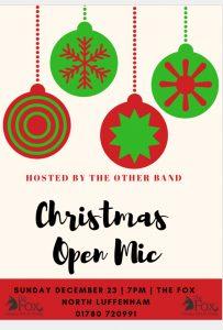 Christmas Open Mic @ The Fox