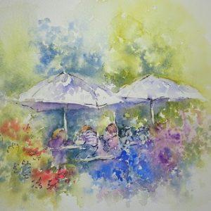 Watercolour Painting: Tea in the Garden @ Barnsdale Gardens
